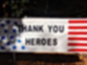 Stars and Stripes banner thanking the mi
