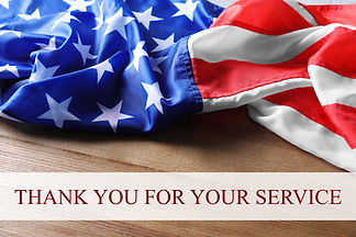 Text THANK YOU FOR YOUR SERVICE and USA