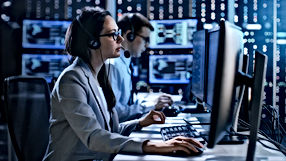 Female working in a Technical Support Te