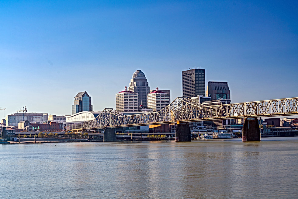View of  Skyline downtown Louisville in