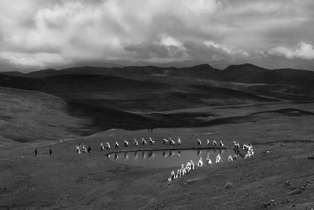 Tinkuy es una danza tradicional de los Andes. Credit Sharon Castellanos/VII Mentor Program