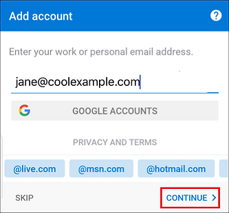 reuse-android-outlook-enter-email-tap-co