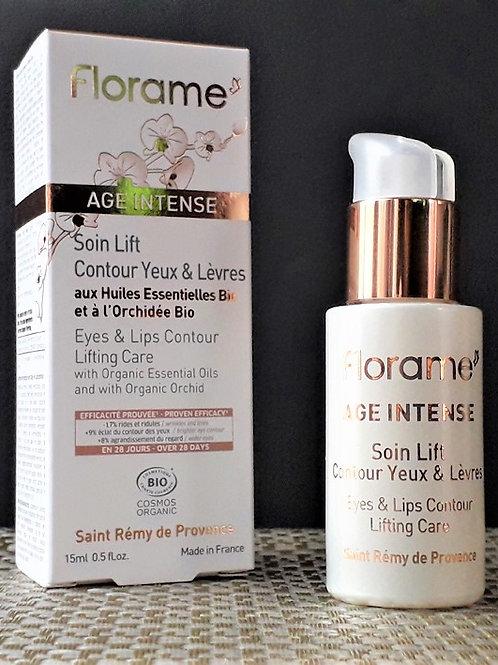 """SOIN VISAGE - Florame """"Age intense"""" - Soin Lift contour Yeux & Lèvres 15 ml"""