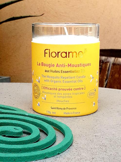 """PARFUM MAISON - Florame """"Anti-moustiques"""" - Bougie parfumée 170 g"""