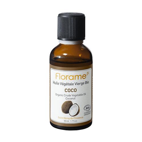 Huile végétale de coco Bio de Florame 50 ml