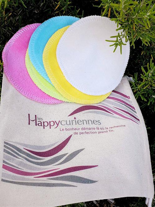 COFFRET ACCESSOIRE - Les Happycuriennes  - Kit 5 disques démaquillants lavables
