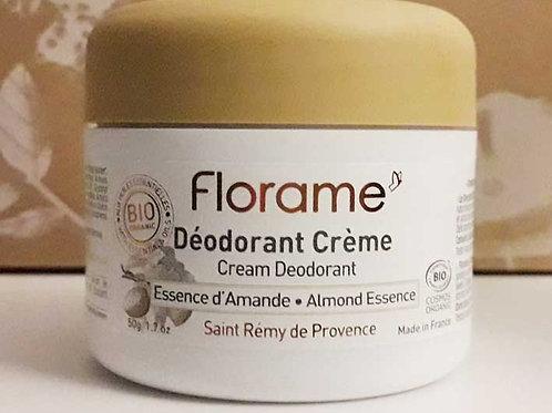 """SOIN CORPS - """"Essence d'amande"""" - Florame - Déodorant crème 50 g"""
