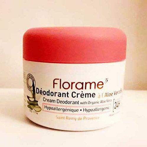 """SOIN CORPS - """"Hypoallergénique"""" - Florame - Déodorant crème 50 g"""