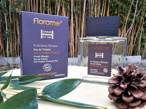 """PARFUM HOMME - Florame """"Fraîcheur Boisée"""" - EDT vapo 100 ml"""