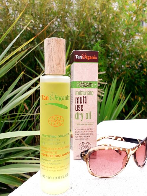 """SOLAIRE - Tan Organic """"Visage&Corps"""" - Huile sèche multi-usage hydratante 100 ml"""