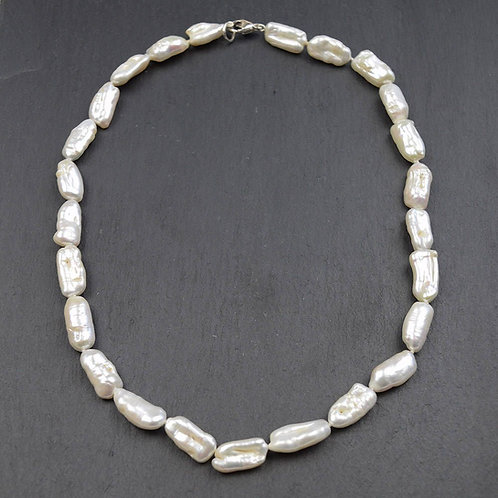 Baroque, Rectangular Pearl Necklace