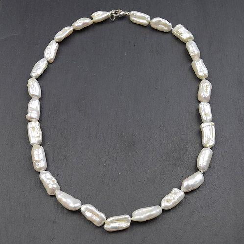 Baroque, Rectangular Pearl Necklace