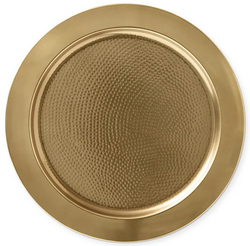 WILLIAMS SONOMA Antique Brass Charger Plate