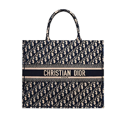 DIOR Large Navy Book Tote
