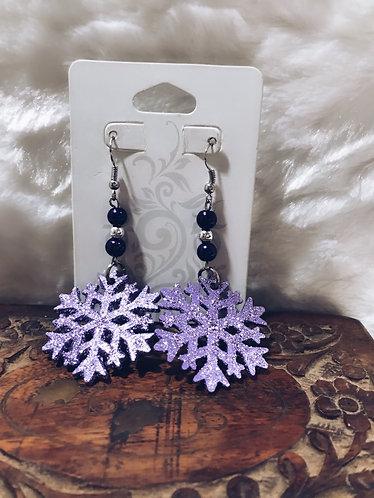 Purple Glaze Snowflakes