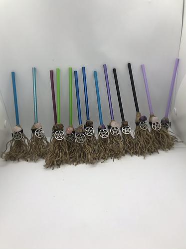 Handcrafted witchy brooms