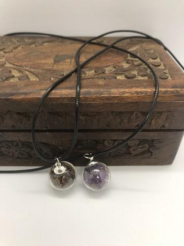 Custom order globe necklaces
