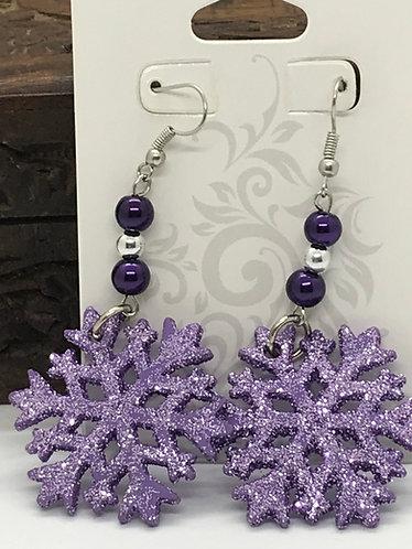 Purple Glaze Snowflakes        *Free Shipping in U.S.*
