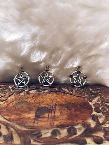 Bling pentagram/ pentacle charms