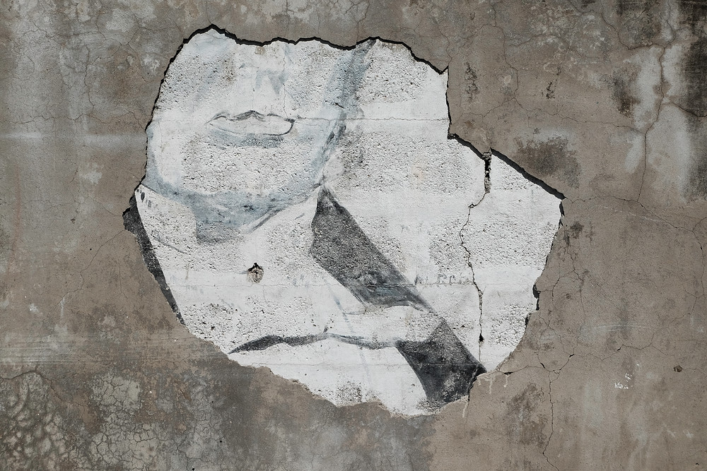 Fragment of mural of George William Gordan, National Hero of Jamaica, Morant Bay, St Thomas, Street art photographed by Tracey Thorne