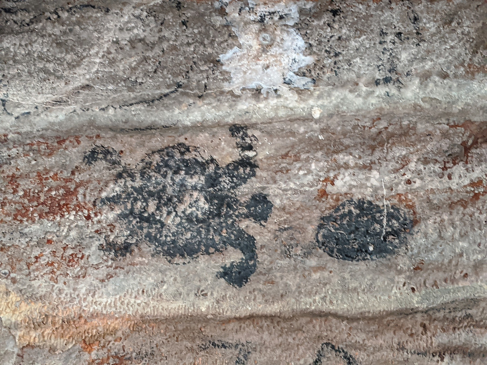 Cave art, Mountain River Cave, St Catherine, Jamaica
