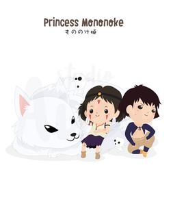 Ghibli-Princess Mononoke