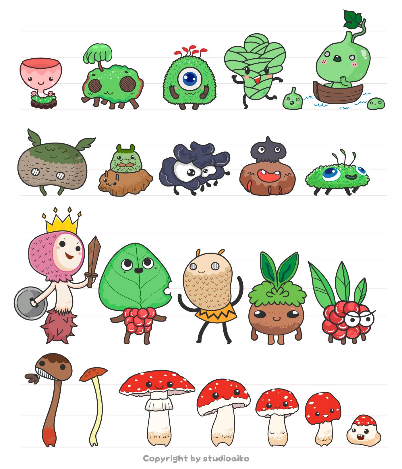 Mushroom Monster Set1