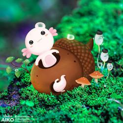 Little Axolotls & Big Acorn