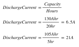 battery discharge rate formula