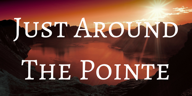 Just Around The Pointe Blog Post Title Graphic