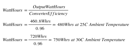 efficiency loss in charge controller formula