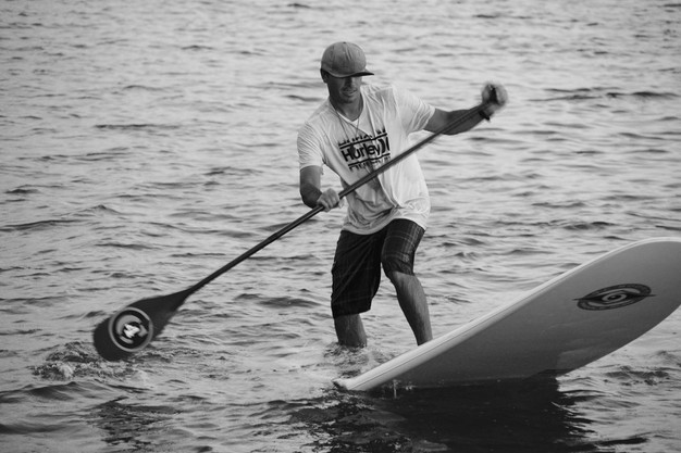 Clinton Johnson paddleboarding
