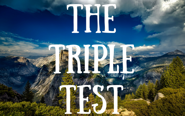 The Triple Test Blog Post Title Graphic