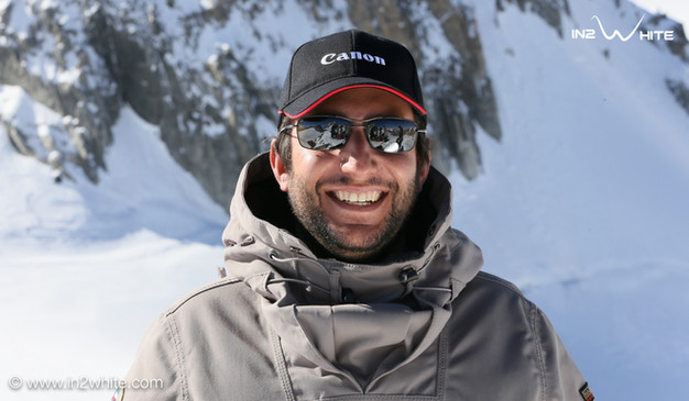Filippo Blengini smiling in front of a mountain