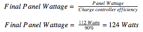 charge controller efficiency formula