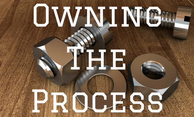 Owning The Process Blog Post Title Graphic