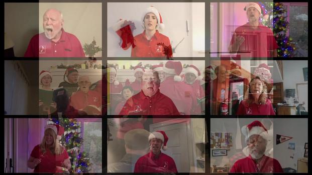 White Christmas virtual choir