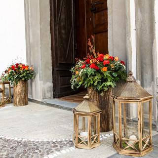 Wedding Day  @Chiesa San Marco Evangelista Cavernago, Bergamo Fiori e lanterne per un matrimonio autunnale