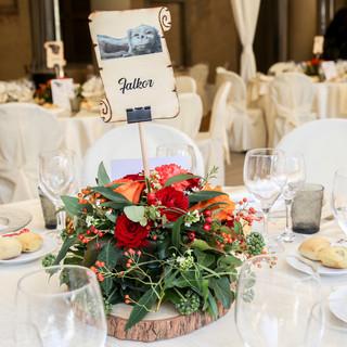 """Wedding Day  @Castello di Cavernago Cavernago, Bergamo Allestimento tavolo """"Falcon"""""""