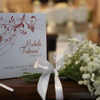 Wedding Day  Libretto messa dallo stile semplice ma curato nei dettagli per un matrimonio settembrino.