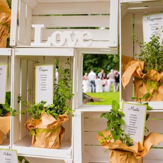 Wedding Day   Tableau de mariage artigianale realizzato con cassettine e 7 erbe aromatiche diverse.