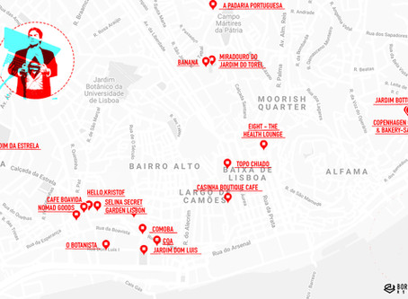 LISBON - coworking in cafes and enjoying lunch in parks (daily routes)