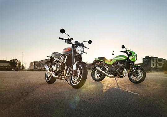 Klasyczne motocykle Kawasaki Z900RS & W800