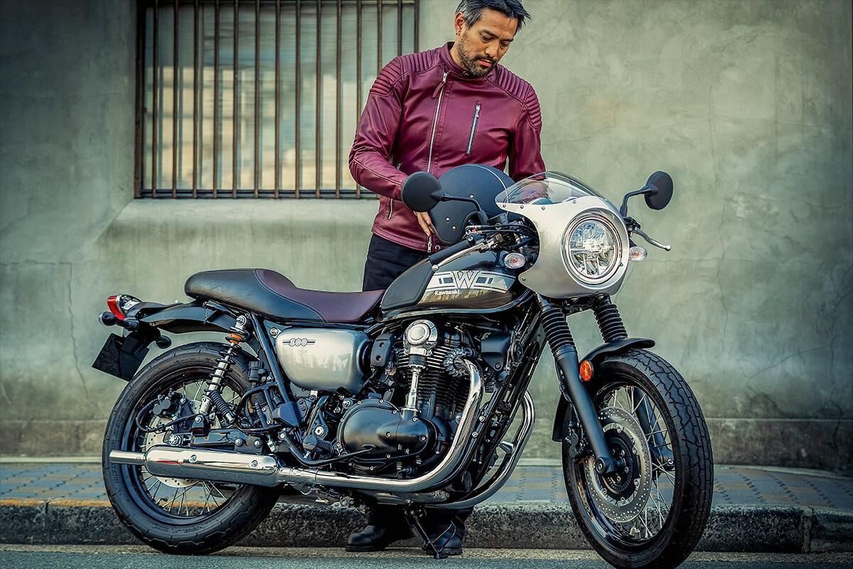 Kawasaki W800 Cafe motocykl legenda