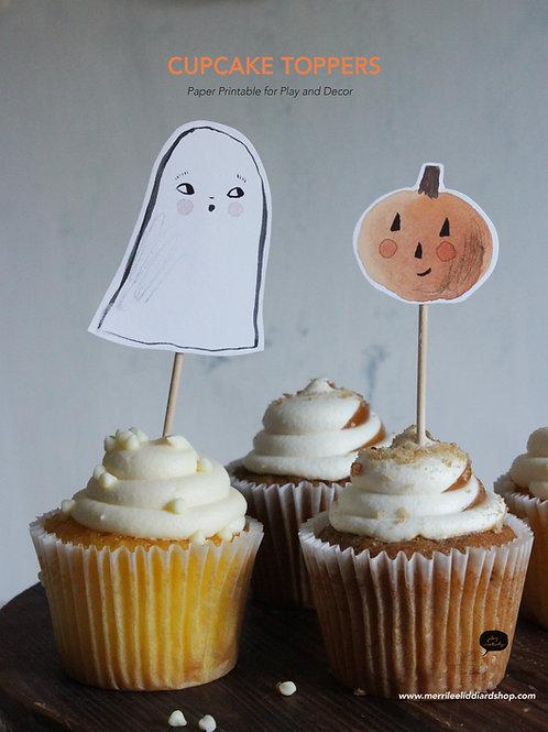 Printable Halloween Cupcake Toppers