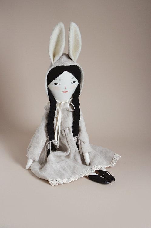 Josephine - midi size doll with bunny hood