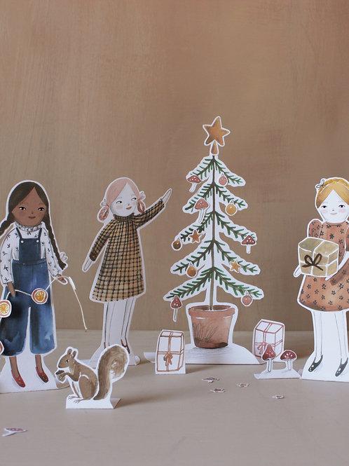 'Oh Christmas Tree' Printable Scene