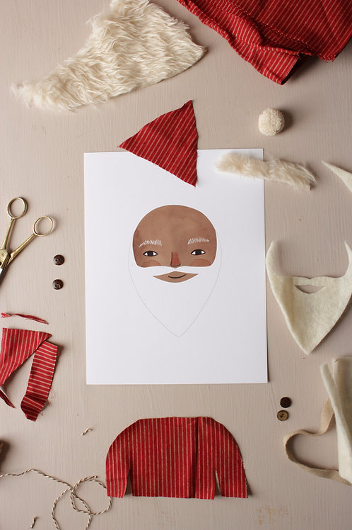 Decorate a Santa Printable