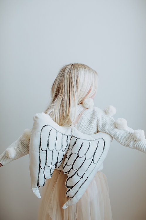 Child size Angel Wings in white