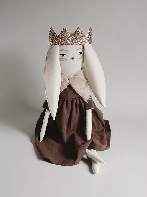 Ada the Bunny in sparkle crown - maxi size